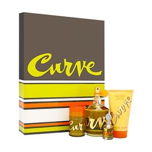 Curve by Liz Claiborne for Men 4 Piece Set Includes: 4.2 oz Cologne Spray + 2.5 oz Skin Soother + 1.0 oz Deodorant Stick + 0.25 oz Cologne Mini