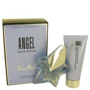 Angel by Thierry Mugler for Women 2 Piece Set Includes: 1.7 oz Eau De Parfum Star Spray Refillable + 3.4 oz Body Lotion