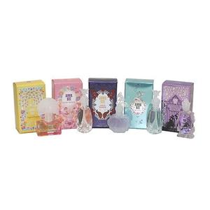 Anna Sui by Anna Sui for Women 5 Piece MINI Set Includes: Flight of Fancy,Fairy Dance, Lavine de Boheme, Secret Wish & Forbidden Affair. All are .14 oz Eau De Toilette