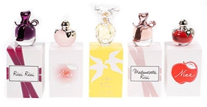 Nina Ricci by Nina Ricci for Women 5 Piece MINI Set Includes: Ricci Ricci Eau de Parfum 0.14 oz + Nina L'Eau Eau Fraiche 0.14 oz + Mademoiselle Eau de Parfum Spray 0.14 oz + Nina Eau de Parfum Spray 0.14 oz + L'Air Du Temps Eau de Toilette Mini 0.14 oz