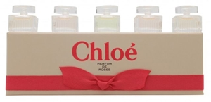 Chloe Parfum De Roses by Chloe for Women 5 Piece MINI Set Includes: 2 of Chloe Eau De Parfum 0.17 oz + 2 of Roses De Chloe Eau De Toilette 0.17 oz + L'eau De Chloe Eau De Toilette 0.17 oz