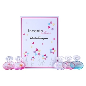 Incanto Collection by Salvatore Ferragamo for Women 5 Piece MINI Set Includes: Incanto Heaven Eau de Toilette 0.17 oz + Incanto Charms Eau de Toilette 0.17 oz + Incanto Shine Eau de Toilette 0.17 oz + Incanto Bloom Eau de Toilette 0.17 oz + Incanto Dream