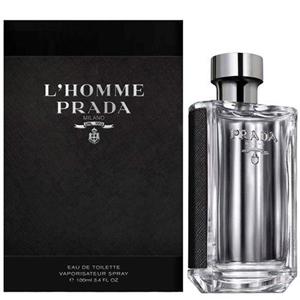 Prada L'Homme by Prada for Men Eau de Toilette Spray 3.4 oz