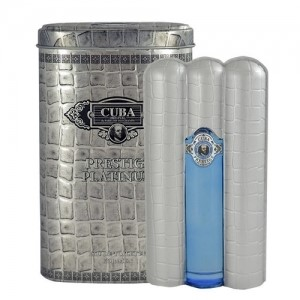 Cuba Prestige Platinum by Cuba for Men Eau de Toilette Spray 3.0 oz