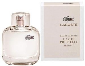 Eau De Lacoste L.12.12 Pour Elle Elegant by Lacoste for Women Eau de Toilette Spray 3.0 oz