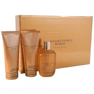Unforgivable by Sean John for Women 3 Piece Set Includes: 4.2 oz Eau de Parfum Spray + 3.4 oz Body Lotion + 3.4 oz Bath & Shower Gel