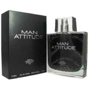 Deray Man Attitude by Deray for Men Eau de Toilette Spray 3.4 oz