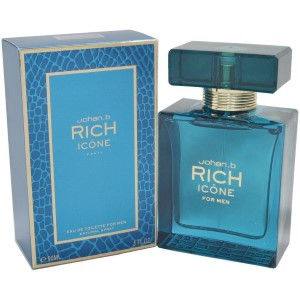 Rich Icone by Johan B for Men Eau de Toilette Spray 3.0 oz