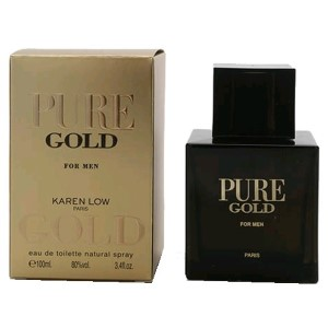 Karen Low Pure Gold by Karen Low for Men Eau de Toilette Spray 3.4 oz