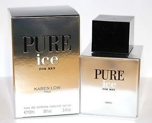 Karen Low Pure Ice by Karen Low for Men Eau de Toilette Spray 3.4 oz