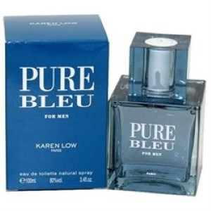 Karen Low Pure Bleu by Karen Low for Men Eau de Toilette Spray 3.4 oz