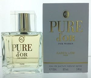 Karen Low Pure D'or by Karen Low for Women Eau de Parfum Spray 3.4 oz