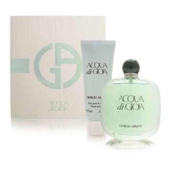 Acqua Di Gioia by Giorgio Armani for Women Set Includes: Eau de Toilette Spray 3.3 oz + Body Lotion 2.5 oz