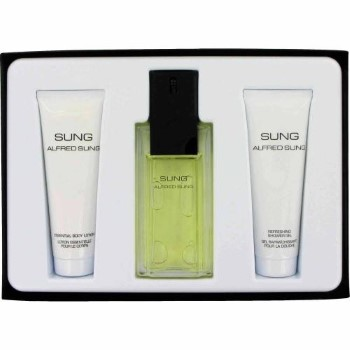 Sung by Alfred Sung for Women Set Includes: Eau de Toilette Spray 3.4 oz + Body Lotion 2.5 oz + Shower Gel 2.5 oz