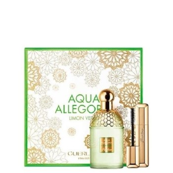 Aqua Allegoria Limon Verde by Guerlain for Women Set Includes: Aqua Allegoria Limon Verde Eau de Toilette Spray 4.2 oz + Cils Denfer Mascara 0.28 oz