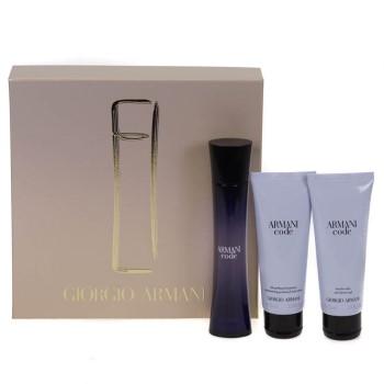 Armani Code Femme by Giorgio Armani for Women Set Includes: Eau de Parfum Spray 1.7 oz + Shower Gel 2.5 oz + Body Lotion 2.5 oz
