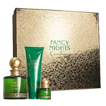 Fancy Nights by Jessica Simpson for Women Set Includes: Eau de Parfum Spray 3.4 oz + Eau de Parfum Spray Mini 0.25 oz + Body Lotion Tube 3.0 oz