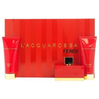 Fendi L'Acquarossa by Fendi for Women Set Includes: Eau de Parfum Spray 2.5 oz + Body Lotion 2.5 oz + Shower Gel 2.5 oz
