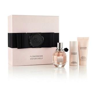 Flowerbomb by Viktor & Rolf for Women Set Includes: Eau de Parfum Spray 1.7 oz + Shower Gel 1.7 oz + Body Cream 1.3 oz