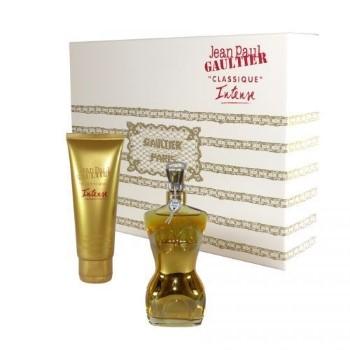 Jean Paul Gaultier Classique Intense by Jean Paul Gaultier for Women Set Includes: Eau de Parfum Intense Spray 1.6 oz + Body Lotion 2.5 oz