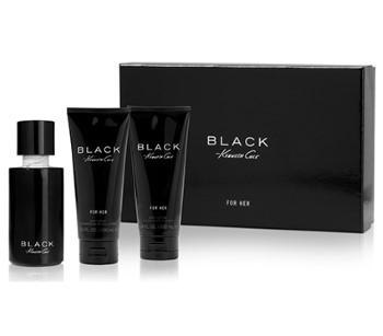 Kenneth Cole Black by Kenneth Cole for Women Set Includes: Eau de Parfum Spray 3.4 oz + Body Lotion 3.4 oz + Shower Gel 3.4 oz
