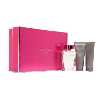 Kenneth Cole Reaction by Kenneth Cole for Women Set Includes: Eau de Parfum Spray 3.4 oz + Body Lotion 3.4 oz + Shower Gel 3.4 oz