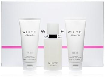 Kenneth Cole White by Kenneth Cole for Women Set Includes: Eau de Parfum Spray 3.4 oz + Body Lotion 3.4 oz + Shower Gel 3.4 oz
