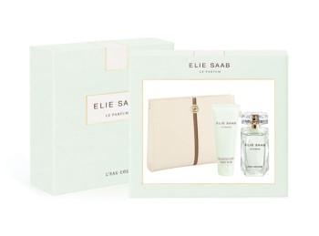 L'Eau Couture by Elie Saab for Women Set Includes: Eau de Toilette Spray 1.6 oz + Body Lotion 2.5 oz + Ivory Beauty Pouch
