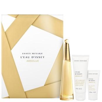 L'Eau D'Issey Absolue by Issey Miyake for Women Set Includes: Eau de Parfum Spray 1.6 oz + Body Lotion 2.5 oz + Shower Gel 1.0 oz