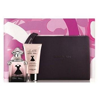 La Petite Robe Noire by Guerlain for Women Set Includes: Eau de Parfum Spray 1.6 oz + Body Milk 2.5 oz + Guerlain Black Cosmetic Bag