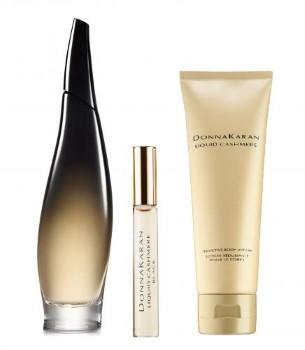 Liquid Cashmere Black by Donna Karan for Women Set Includes: Eau de Parfum Spray 3.4 oz + Eau de Parfum Rollerball 0.34 oz + Body Lotion 3.4 oz