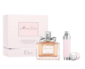 Miss Dior by Christian Dior for Women Set Includes: Eau de Parfum Spray 3.4 oz + Eau de Parfum Spray Refillable Mini 0.25 oz