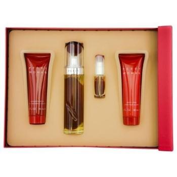 Perry Woman by Perry Ellis for Women Set Includes: Eau de Parfum Spray 3.4 oz + Eau de Parfum Spray Mini 0.25 oz + Body Lotion 3.0 oz + Shower Gel 3.0 oz
