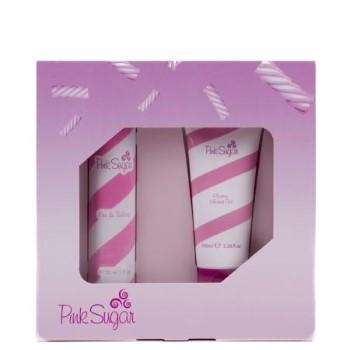 Pink Sugar by Aquolina for Women Set Includes: Eau de Toilette Spray 1.0 oz + Shower Gel Tube 3.3 oz