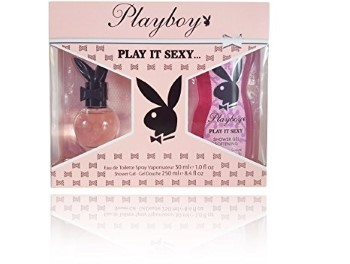 Playboy Play It Sexy by Coty for Women Set Includes: Eau de Toilette Spray 1.0 oz + Shower Gel 8.4 oz
