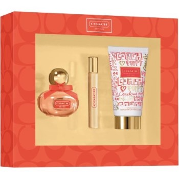 Coach Poppy by Coach for Women Set Includes: Eau de Parfum Spray 0.68 oz + Eau de Parfum Spray Mini 0.14 oz + Body Lotion 1.7 oz