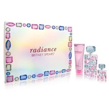 Radiance by Britney Spears for Women Set Includes: Eau de Parfum Spray 1.7 oz + Radiance Body Souffle 3.3 oz + Shower Gel 3.3 oz