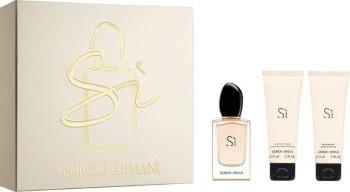 Si by Giorgio Armani for Women Set Includes: Eau de Parfum Spray 1.7 oz + Shower Gel 2.5 oz + Body Lotion 2.5 oz