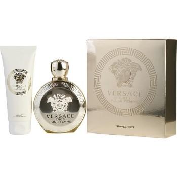 Versace Eros by Versace Travel for Women Set Includes: Eau de Parfum Spray 3.4 oz + Body Lotion 3.4 oz