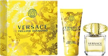 Versace Yellow Diamond by Versace Travel for Women Set Includes: Eau de Toilette Spray 1.7 oz + Body Lotion 3.4 oz