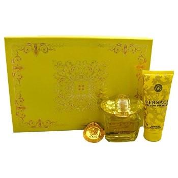 Versace Yellow Diamond by Versace for Women Set Includes: Eau de Toilette Spray 3.0 oz + Body Lotion 3.4 oz + Versace Key Chain