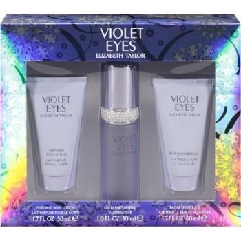 Violet Eyes by Elizabeth Taylor for Women Set Includes: Eau de Parfum Spray 1.0 oz + Body Lotion 1.7 oz + Shower Gel 1.7 oz