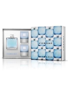 Chrome by Azzaro for Men Set Includes: Eau de Toilette Spray 3.3 oz + Hair & Body Shampoo 2.5 oz + After Shave Balm 2.5 oz