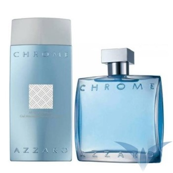Chrome by Azzaro for Men Set Includes: Eau de Toilette Spray 3.3 oz + Shampoo 6.8 oz