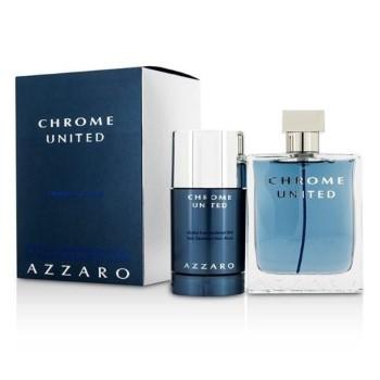 Chrome United by Azzaro for Men Set Includes: Chrome United Eau de Toilette Spray 3.4 oz + Deodorant Stick Alcohol Free 2.1 oz