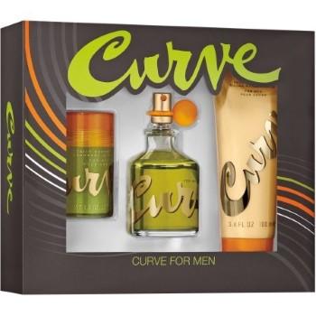 Curve by Liz Claiborne for Men Set Includes: Cologne Spray 2.5 oz + Deodorant Stick 1.0 oz + After Shave Balm 3.4 oz