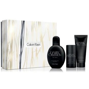 Dark Obsession by Calvin Klein for Men Set Includes: Eau de Toilette Spray 4.0 oz + Deodorant Stick 2.6 oz + After Shave Balm 3.4 oz