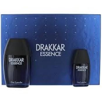 Drakkar Essence by Guy Laroche for Men Set Includes: Eau de Toilette Spray 3.4 oz + Eau de Toilette Spray 1.0 oz