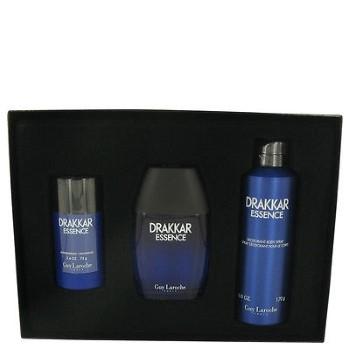 Drakkar Essence by Guy Laroche for Men Set Includes: Eau de Toilette Spray 3.4 oz + Deodorant Stick 2.6 oz + Body Spray 6.7 oz