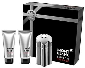Emblem Intense by Mont Blanc for Men Set Includes: Eau de Toilette Spray 3.3 oz + After Shave Balm 3.3 oz + All Over Shower Gel 3.3 oz